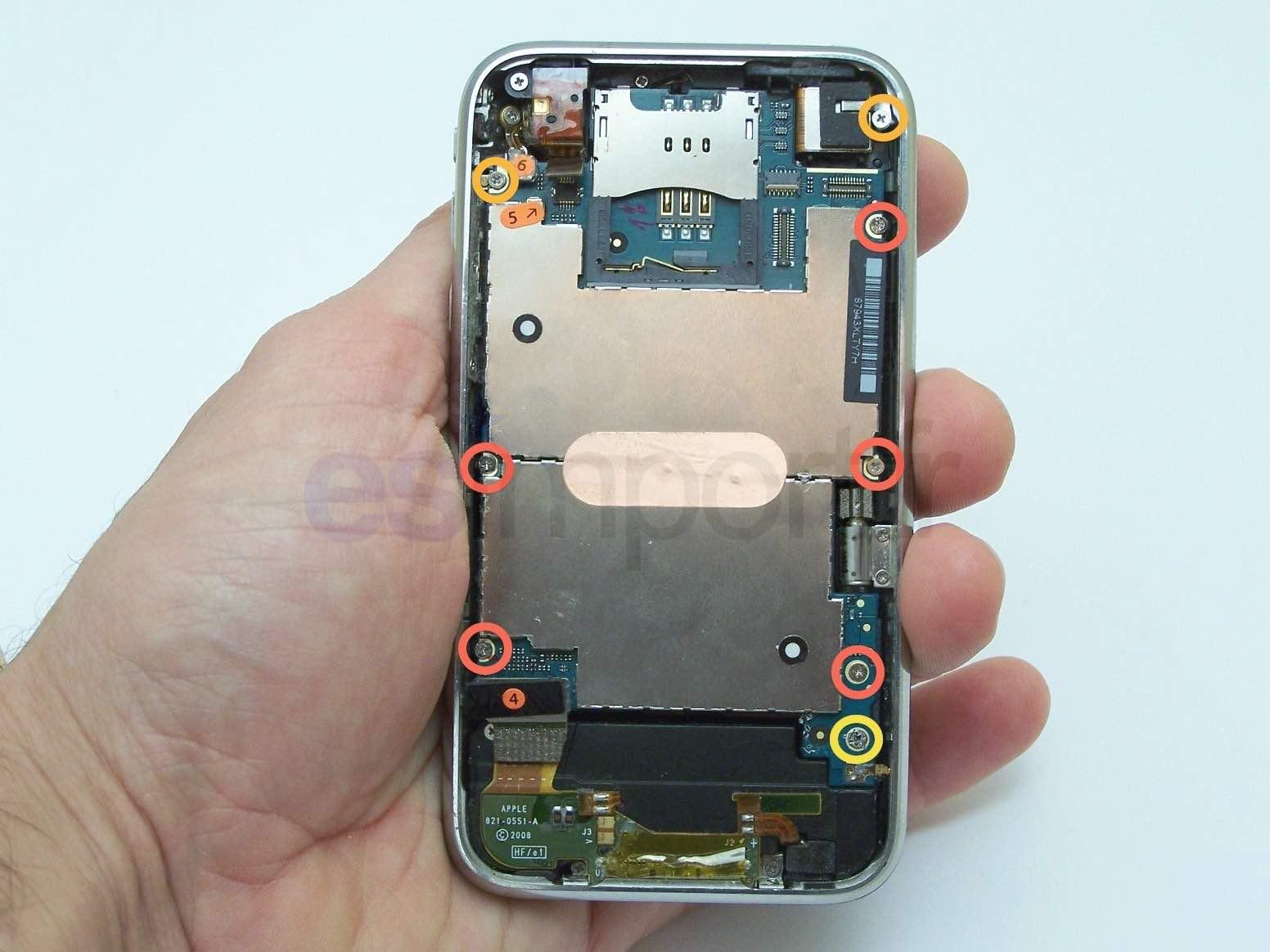 DEVISSER VIS IPHONE 3G CARTE MERE