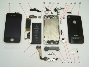 éclaté d'un iPhone 4