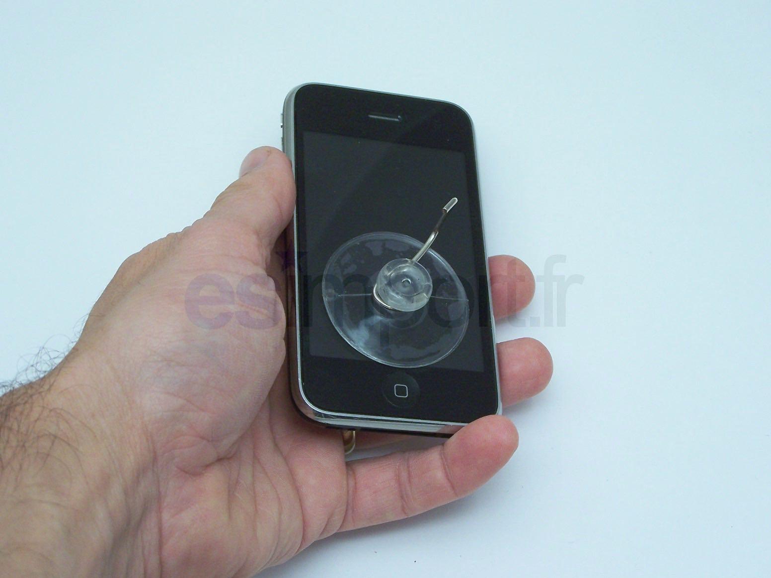 PLACER LA VENTOUSE SUR ECRAN DE L IPHONE 3G