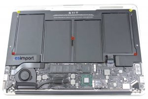 1 DEVISSER 5 VIS BATTERIE MACBOOK AIR A1369