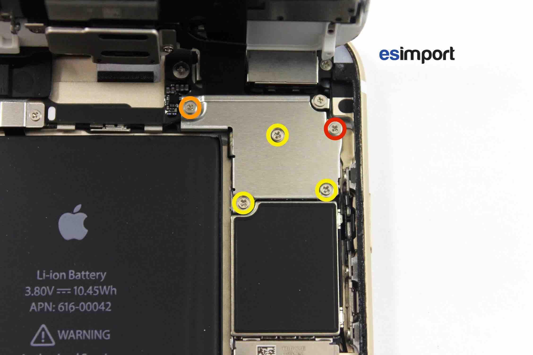 tutoriel d crivant le changement de l 39 ensemble cran sur un iphone 6s. Black Bedroom Furniture Sets. Home Design Ideas