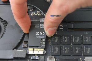 14 DECONNECTER CARTE AIRPORT MACBOOK 15P A1398 RETINA