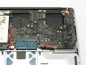 DECONNECTER CARTE MERE MACBOOK PRO 15