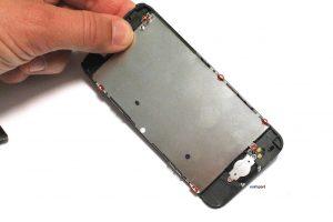 DEVISSER PLAQUE EN ACIER IPHONE 5C