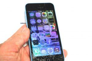 ECRAN CASSE IPHONE ALLUME IPHONE 5C