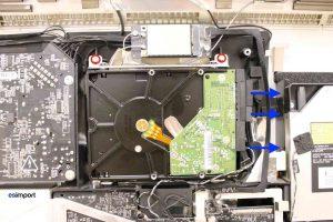 Changement du disque dur sur un iMac A1311 2009 - 10 DECONNECTER CABLES DISQUE DUR