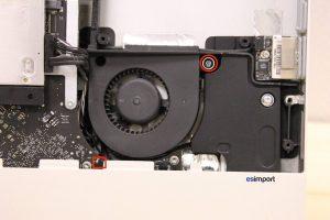 Changement du ventilateur lecteur optique sur un iMac A1311 2011 - 10 VENTILATEUR LECTEUR OPTIQUE