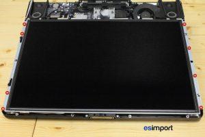 Changement de la dalle LCD sur un iMac A1224 2007 - 7 RETIRER 8 VIS SUPPORT LCD IMAC 20p MI 2007