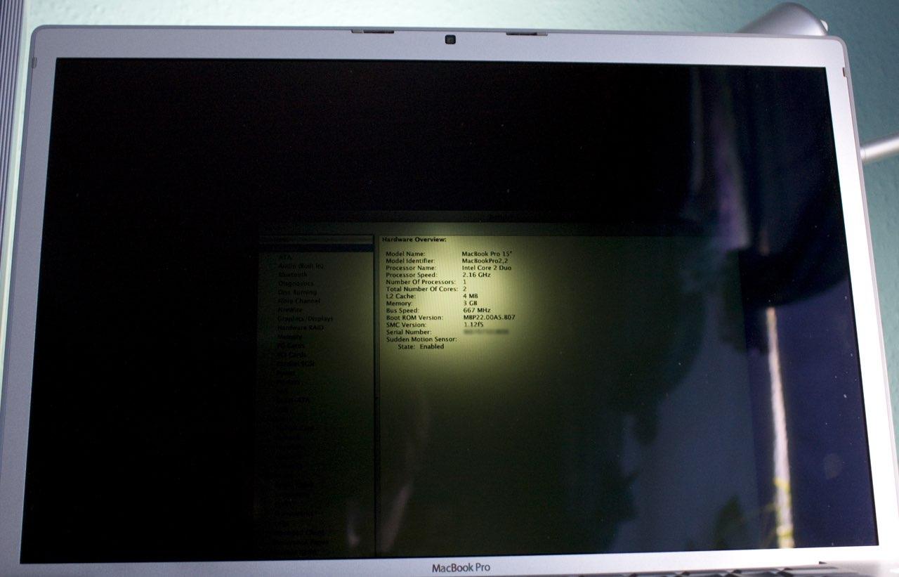 D 233 Faut De R 233 Tro 233 Clairage De L 233 Cran Sur Un Macbook
